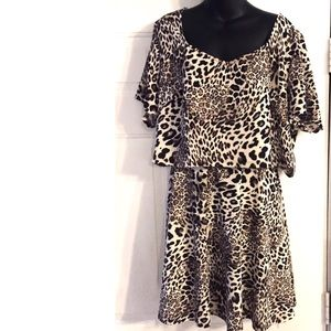 Fashion to Figure Skirts - Fashion to Figure Leopard 2-Piece Leopard Set 3X